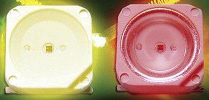 Surface Mount LEDs offer brightness levels to 25,000 mcd.
