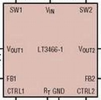 DC/DC Converter combines LED driver and boost regulator.