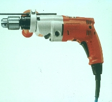 Hammer-Drill Kit drills concrete, steel, and plastics.