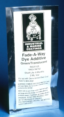 Polyurethane Dye Additive adds temp. color to clear coats.