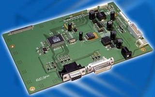 Flat Panel Controller converts RGB and DVI input.