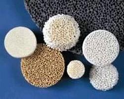 Ceramic Foam Filters remove impurities from liquid metal.