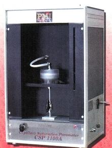 Porometer determines volume without using mercury.