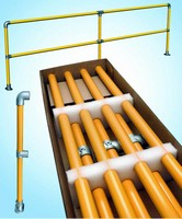 Safety Railing Kit comes with pre-assembled uprights.