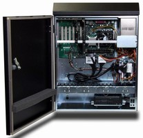 Industrial PC Enclosure has rugged, wall mount design.