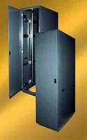 Cabinet has open-back design.