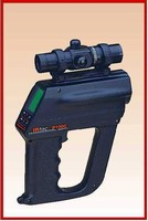 Infrared Thermometer features laser pinpointing system.
