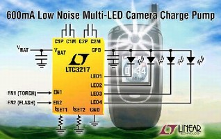Cell Phone Camera LED Driver provides 92% efficiency.