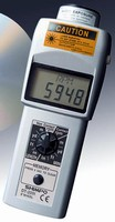 Laser Tachometer has USB and data storage capabilities.