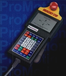 Handheld Terminal has emergency stop button.