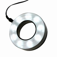 LED Ringlight illuminates 2 in. spot with 55,000 lux.
