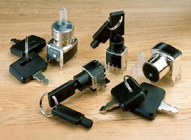 Keylock Switches come in subminiature and miniature sizes.