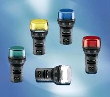 LED Pilot Lights feature single unit, monoblock design.