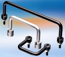 Folding Handles save space in enclosure applications.
