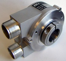 Heavy Duty, Hollow Shaft Encoder has dual output feature.