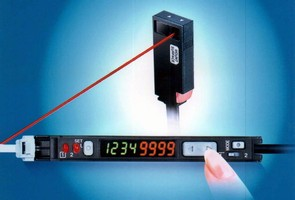 Laser Optic Sensors measure as small as 0.24 in. thick.