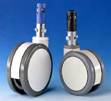 Swivel Casters include brake and locking system.