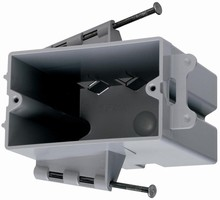 Stud Boxes are usable with ½ or 5/8 in. wallboard.