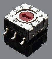 DIP Coded Rotary Switch is designed to conserve PCB space.