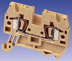 Spring Clamp Terminal Block has high-density design.
