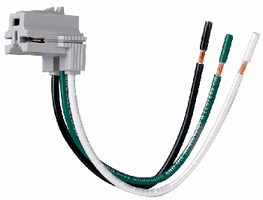 Right Angle Connector suits shallow wiring applications.