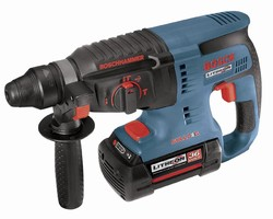 Rotary Hammer is powered by 36 V lithium-ion battery.