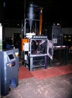 Roller Conveyor System provides abrasive blasting.