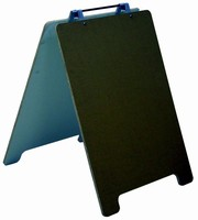 Indoor/Outdoor Sign System has portable, foldable design.