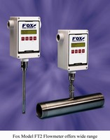 Fox Model FT2 Flowmeter Offers Wide Range of Communication and Interface Options