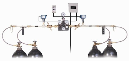 Gas Manifold System allows for uninterrupted gas flow.