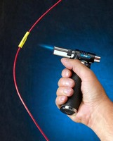 heat shrink torch offers temperature range to 2 500 f