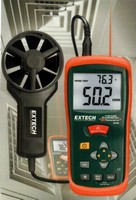 CFM/CMM Thermo-Anemometers offer 3% velocity accuracy.