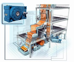 PIV Drives: Single Screw Extruder Drives for Biggest Film Production Line Made by Reifenhäuser