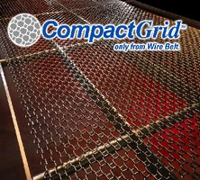 Conveyor Belt features open mesh design.
