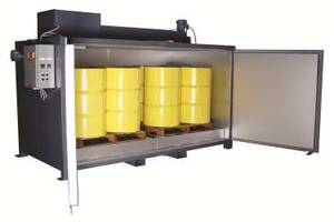Stainless Steel Hot Room safely heats drums and totes.