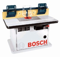 Router Table features laminated cabinet functionality.