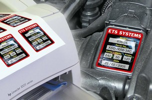Rating Plate Labels can be printed on laser printers.