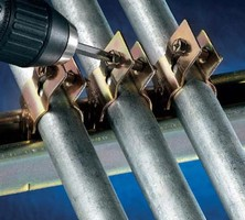 Pipe and Conduit Clamps come in 10 sizes from ½-4 in.