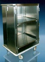 Stainless Steel Carts feature antimicrobial finish.
