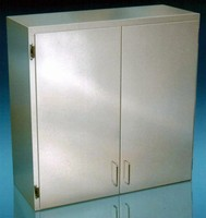 Cabinets suit food service, laboratory, and medical use.