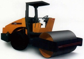 Vibratory Dirt Roller has ergonomic operator platform.