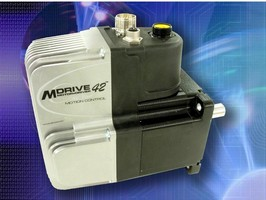 Brushless Motor operates at input voltage of 120 or 240 Vac.