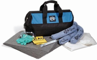 Spill Kit is offered in canvas tote bag.