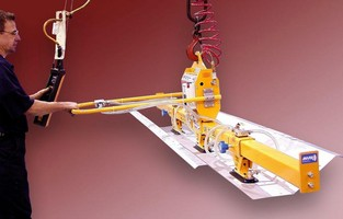 Powered Vacuum Lifter Lets One Person Safely Feed Stamping Presses