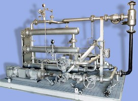 Custom Hot Oil System offers remote-mounted control panel.