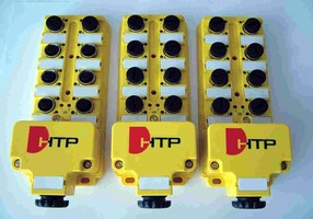 M12 Distribution Boxes - 4,6 & 8 Positions with 4 or 5 Pole M12 Connectors