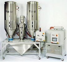 System performs 3-component drying, blending, and conveying.