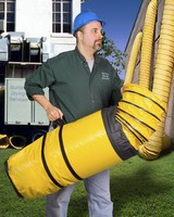 Flexible Blower Hose Compresses 10:1 Into Own Storage Sack