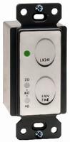 Fan/Light Switch regulates energy use.