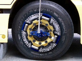 Wheel Sensor measures force and torque on large trucks.